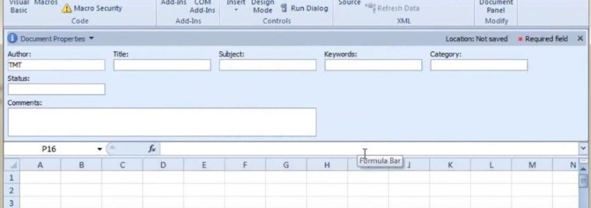 The Office Expert - Configuring Document Properties in Excel