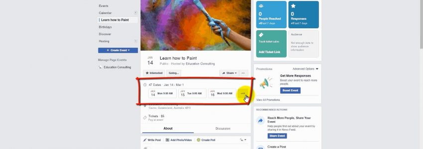 Create a Facebook Event Longer than 2 weeks